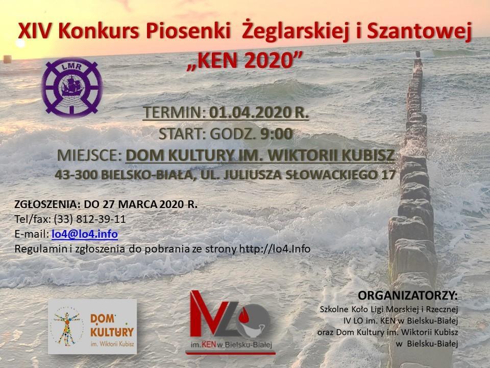 Obrazek newsa XIV KONKURS PIOSENKI ŻEGLARSKIEJ I SZANTOWEJ KEN 2020